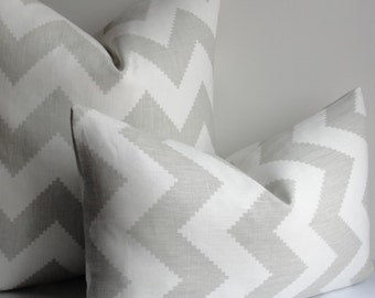 Gray Chevron JONATHAN ADLER for KRAVET Decorative pillow cover Smoke grey Chevron Limitless throw pillow accent pillow designer pillow cover