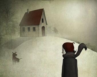 Winter walk  - Art print (3 different sizes)