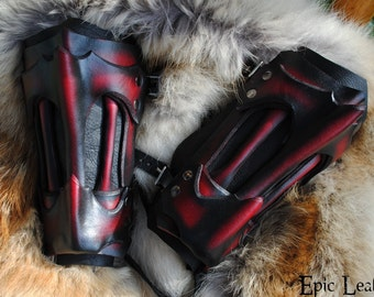LARP Ruby Dragon Bone Vambrace - Small