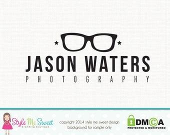 hipster logo design eyeglass logo design glasses logo design graphic design photography logo premade logo design watermark logo design