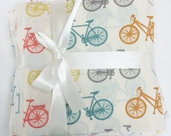 Bike It - Organic Fabric by Birch Fabrics - Charm Pack - 70 squares