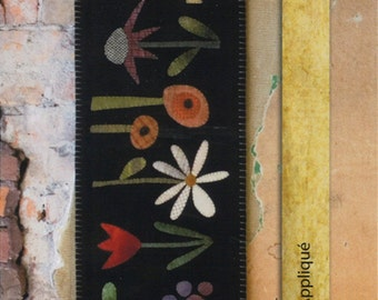 Garden Row Wool Applique Penny Rug Pattern by Threads that Bind  TTB 211 Primitive Penny Rug
