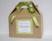 Personalized Kids wedding activity box / Name activity box / Child wedding activity box