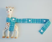 Sophie Leash - Woven in teal with white snaps