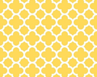 Riley Blake Designs - QUATREFOIL - Yellow - Cotton Fabric - Geometric