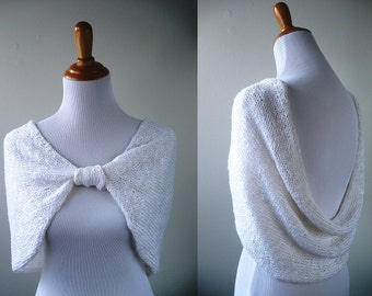 Wedding Shawl / Cover Up - Hand Knit - MADE TO ORDER