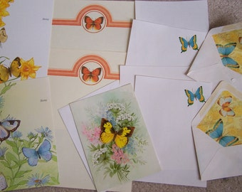 Vintage Stationery Collection - Retro  Butterflies