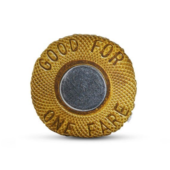 Officially Licensed 1986 NYC Subway Token Printed Pillow