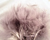 Spey Popsicle Marabou Feathers Strung Gray  MRSPD-13 Craft feathers