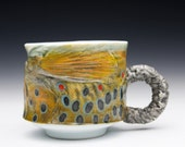 Porcelain Fish Brown Trout Mug  (Nature as Objects) Gyotaku