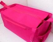 Purse organizer for Louis Vuitton Neverfull GM with Zipper closure- Bag organiser in Fuchsia