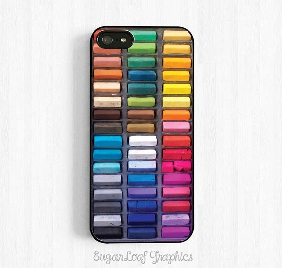 Assorted Color Artists Chalk Crayons iPhone Case iPhone 5 Case iPhone 5s iPhone 5c Case iPhone 4/4s Art Supply Set NP14