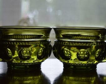 Avocado Green Kings Crown Coffee/Tea Cups-Set of 2