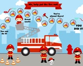 PRINTABLE Personalized Child Incentive/Reward Firefighters Adventure - Jpeg PDF