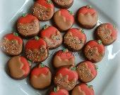 Caramel apple cookies - 2 dozen mini apple cookies - fall cookies - halloween cookies