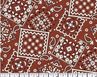 Rust Brown Bandana - Cotton