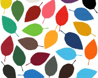 Rose Leaf Digital Clip Art Commercial Use - Instant Download  - DP260