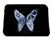 Alice in Wonderland Wings Laptop Sleeve/ Case, Alice in Wonderland, Butterfly Wings Tim Burton Inspired, proceeds to Alzheimer's Association