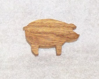Refrigerator Magnets Pig Country Decor Rustic Gift Idea