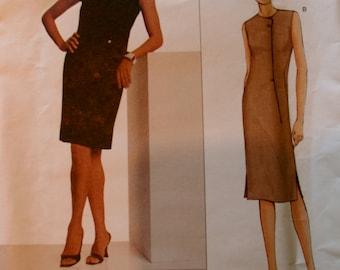 VOGUE DESIGNER, Geoffrey Beene, Vogue 2660, elegant fitted straight dress, size Misses 2660