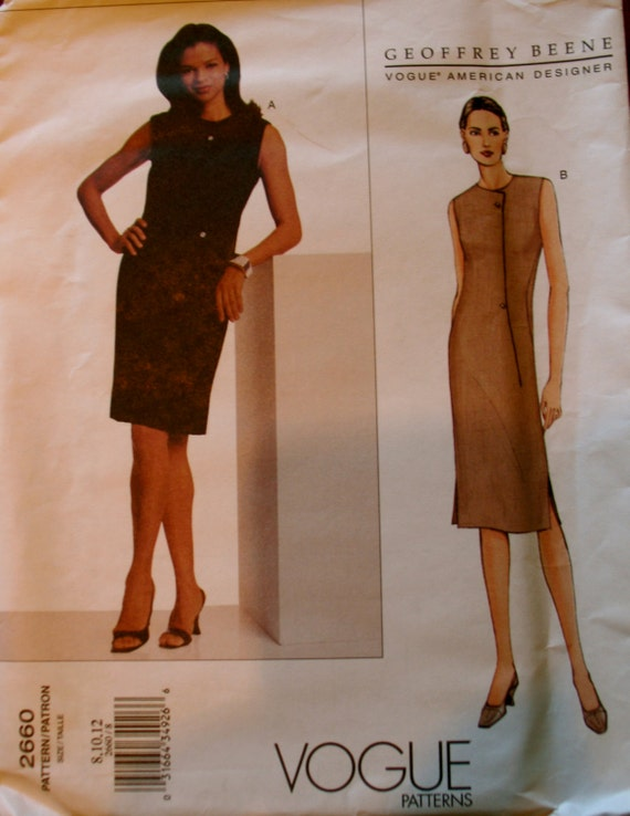 Vogue designer geoffrey beene vogue 2660 elegant fitted Fashion designer geoffrey