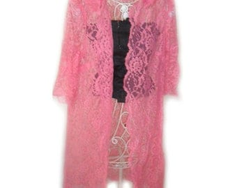 Pink Lace Coat / Robe