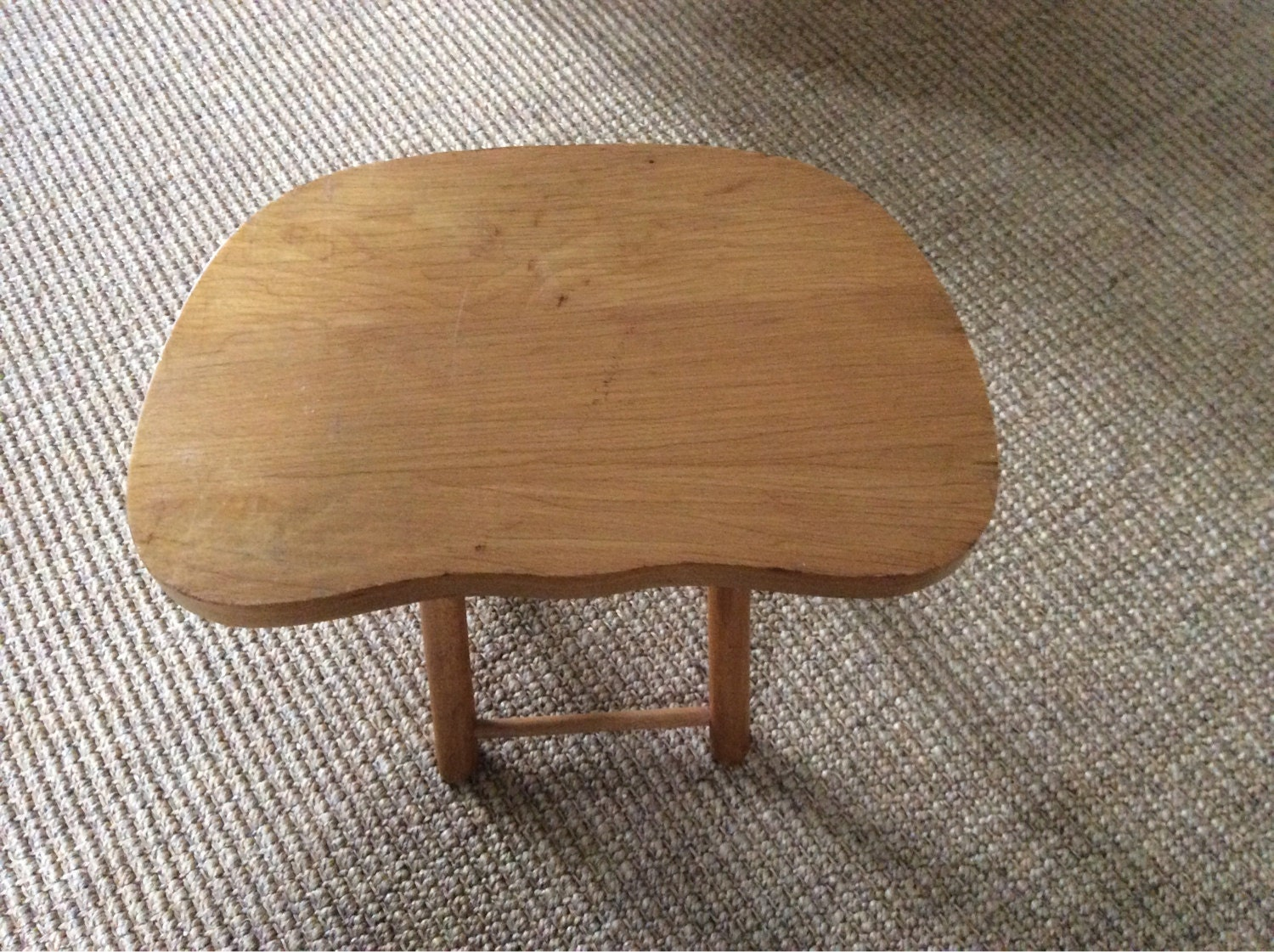 Vintage Nevco Fold And Carry Wooden Stool Made In