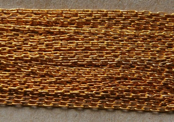 copper gold vintage fine brass chain