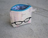 ORDER FOR ASPECTACLEDOWL doll face coin pouch. little nerd girl  with glasses guts