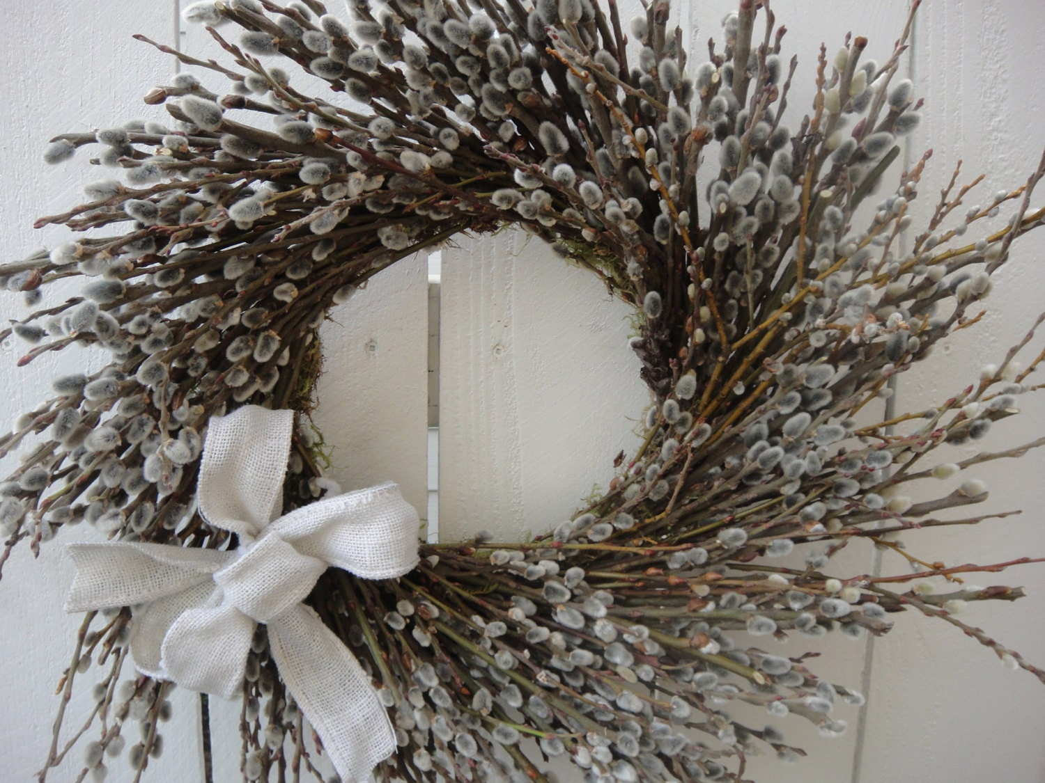 Pussy Willow Wreath Spring And Summer Wreath By Donnahubbard