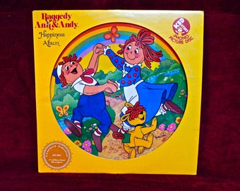 Limited Edition Collector's Series RAFFEDY ANN & ANDY - Happiness Album - 1981 Vintage Vinyl Picture Disc Album...Promotional Copy
