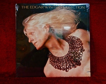 CRAZY CUPID SALE Factory Sealed...The Edgar Winter Collection - 1989 Vintage Vinyl Record Album...Promotional Copy
