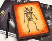 iPad & iPad Mini Leather Cover - Two Headed Skeleton - Customizable - Free Personalization