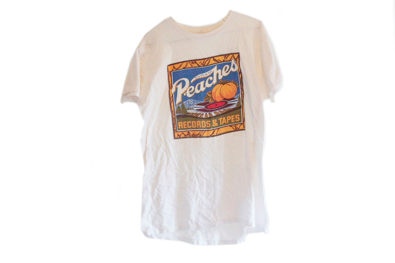 70s peaches record and tape megastore t shirt vintage record for Vintage record company t shirts
