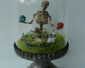 "SOLD - Dia De Los Muertos ""La Querida Memoria"" (In Loving Memory) cloche"