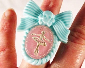 Sweet and Tough Ballerina Skull Ring