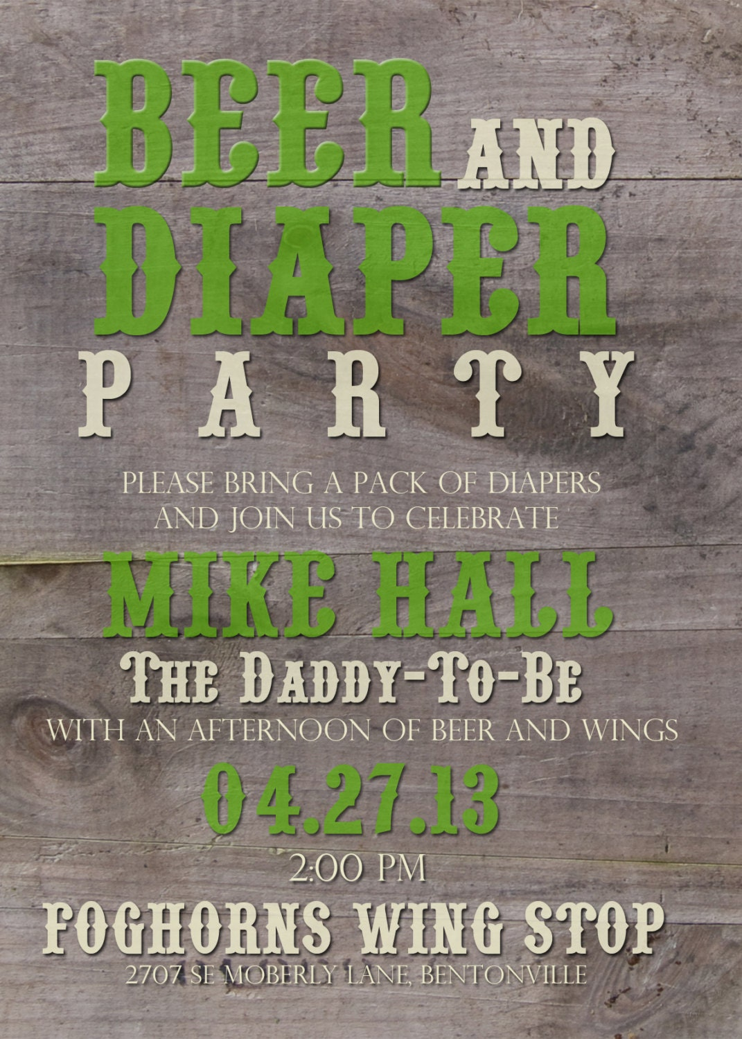 daddy baby shower printable invitation by elliotgracedesigns