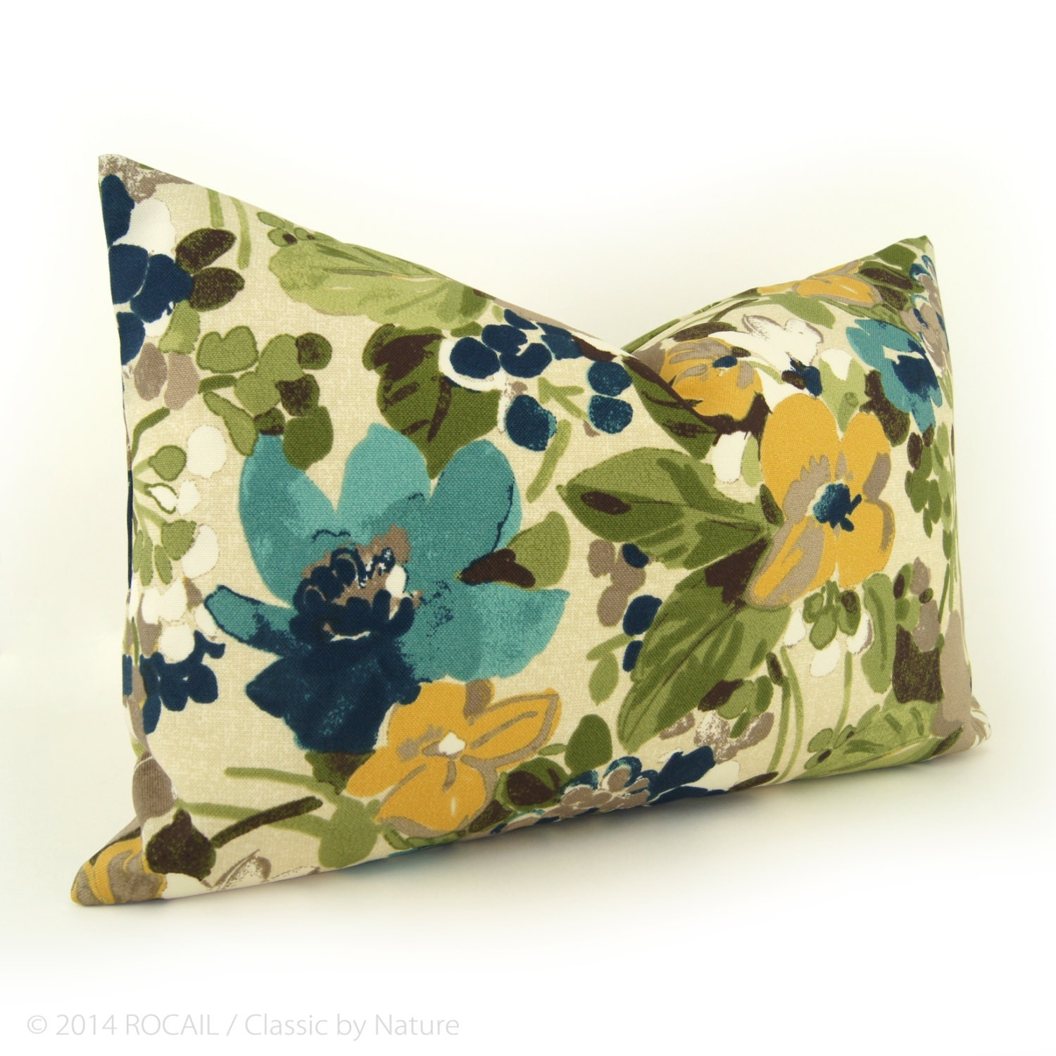 Floral Outdoor Decorative Throw Pillow Case Cover By