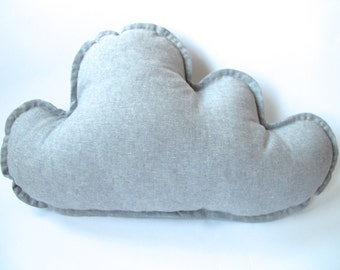 Grey Linen Cloud Pillow
