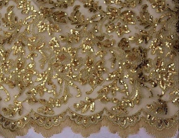 gold perlen spitze stoff gold pailletten hochzeit spitze stoff. Black Bedroom Furniture Sets. Home Design Ideas