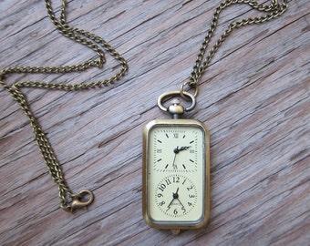 International Jetsetter Pocket Watch Necklace