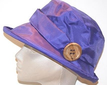 Violet  PU Rain Hat
