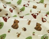 Half Yard - Japanese Cotton Fabric - Animals & Forest