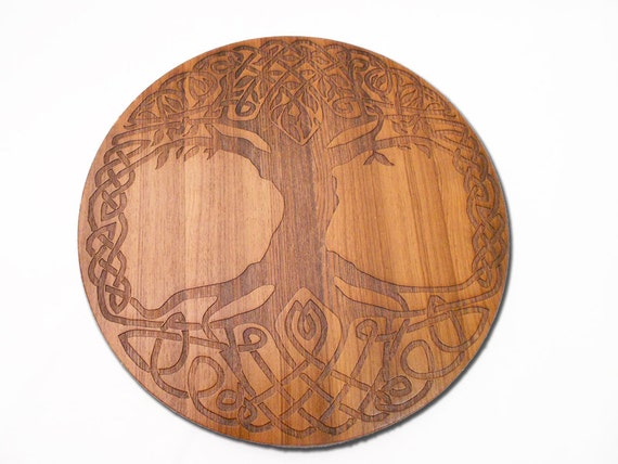 Tree Of Life Wall Art OR Lazy Susan Engraved By Eyegrinddesign