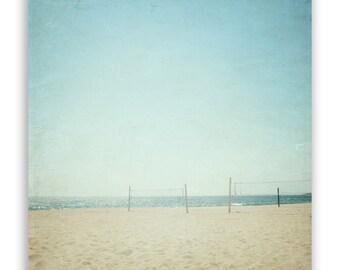 SALE - California beach decor, LA photograph, aqua beach photography, beach volleyball - Small Fine Art Photograph