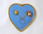 Vintage Moose Lodge Sweetheart Pin with Original Heart Brooch Wedding Ring Band