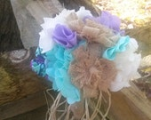 Custom Order Rustic Bouquet  Mint and Lavender