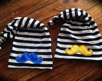 Newborn Hat - Baby Boy Mustache Hat - Photo Prop