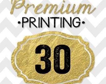 30 5x7 PREMIUM PRINTED double-sided INVITATIONS on thick cardstock and free white envelopes