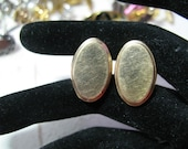 Perfect for Engraving Vintage Cufflinks, Classic Oval, 1940~50, 1-20, 12K GF,  Formal Wedding, For Him, For Dad
